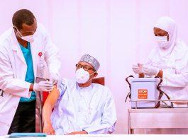 Buhari receives second jab