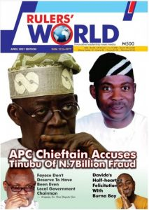 Rulers World Magazine April 2021 Edition Cover