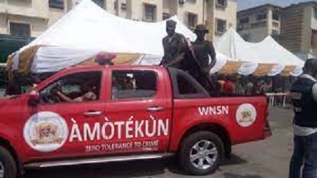Amotekun arrests three herdsmen, Amotekun apprehend, six suspected bandits, Kajola local government, Okeho, OPC, VGN, herders