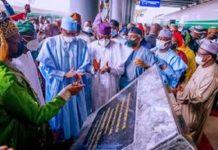Buhari commissions Lagos-Ibadan railway