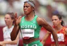 Nwokocha Okagbare in semi-finals