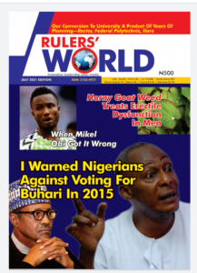 July 2021 Rulers World Front Page