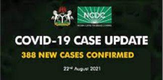 Nigeria records 388 new cases