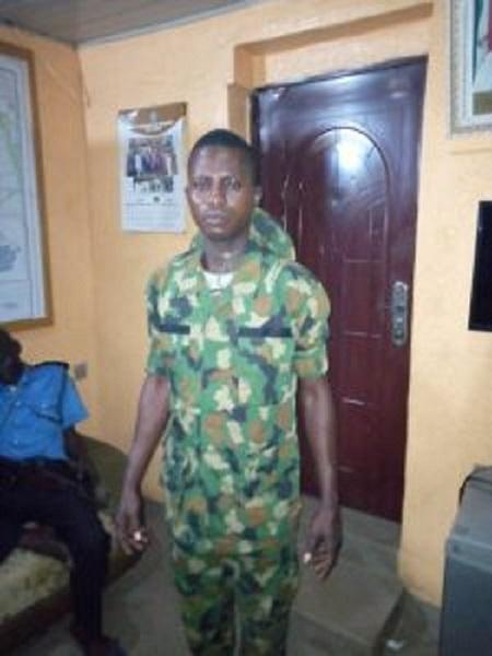 Police arrest fake soldier, in Ogun State
